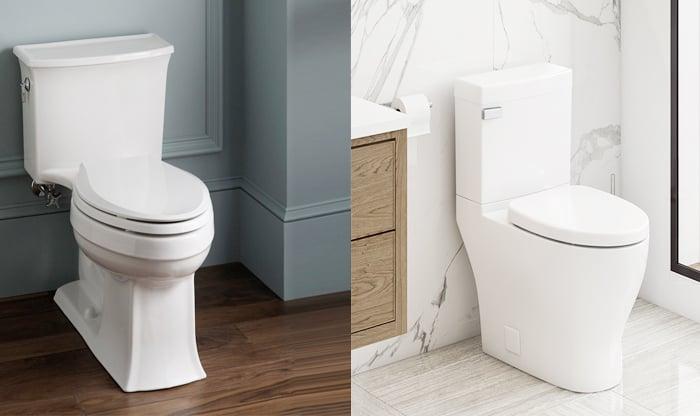 one piece vs two piece toilet